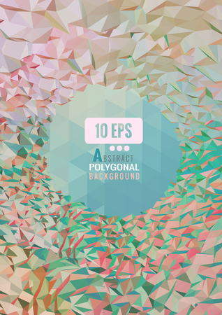 Sweet colorful abstract polygonal triangular background with space for subject Ilustração