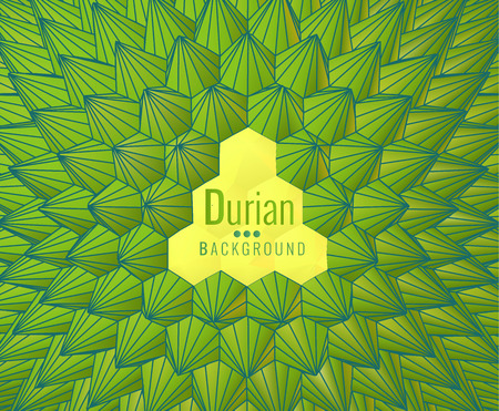 Low poly abstract geometric durian shape pattern background