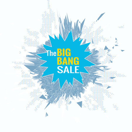 The big bang sale object for banner graphic design template on white background