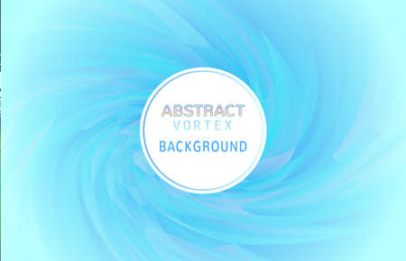 Abstract colorful vortex twist polygonal element spiral on light blue background with blank space for text copy