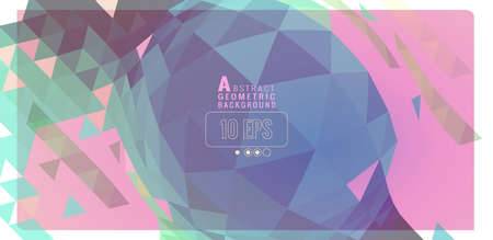 Abstract colorful pastel polygonal triangle geometric sphere element design vector illustration banner background