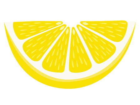 Lemon Wedge - Isolated