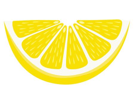 lemon wedge: Lemon Wedge - Isolated