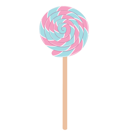 Lollipop Illustration Isolated on white background, vector illustration. Ilustração