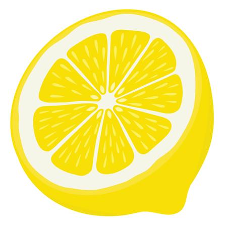 Lemon Half Isolated on White Background