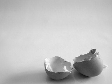 깨진 달걀 껍질 스톡 콘텐츠
