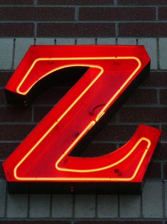 Neon Uppercase Z
