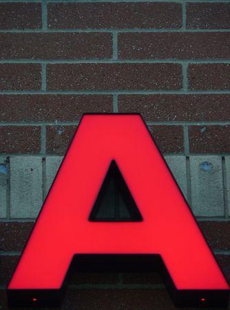 uppercase: Uppercase A Stock Photo