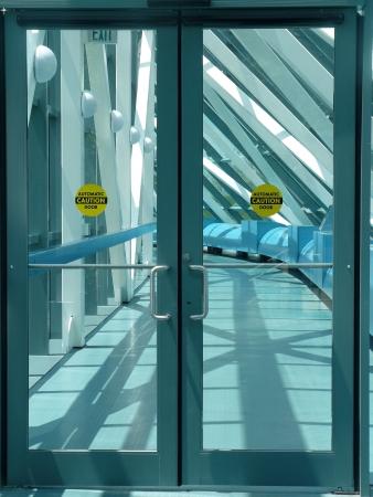 Automatic Caution Door Stock Photo - 3870254