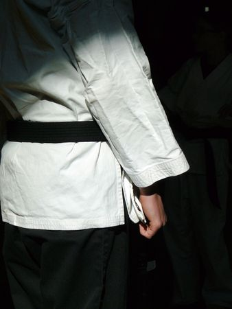 Karate Black Belt Stock Photo