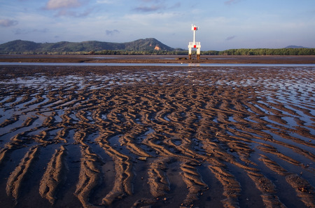 sand formation at he beach photo