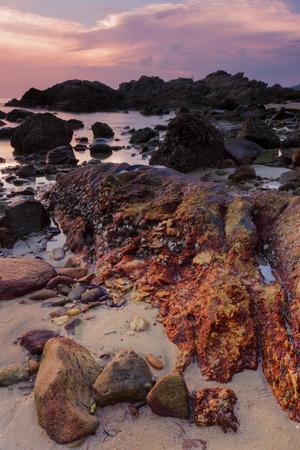Rock at Sunset photo