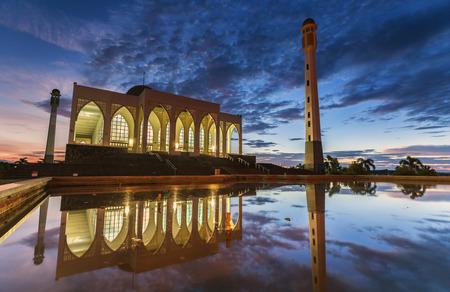 statutes: Mosque at Dusk