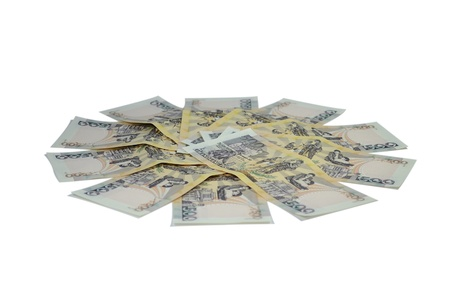 Bills, banknotes, currency of the Philippines(clipping path included). Stock Photo - 11882281