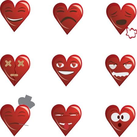Vector illustration of a heart symbols. Stock Vector - 11882417