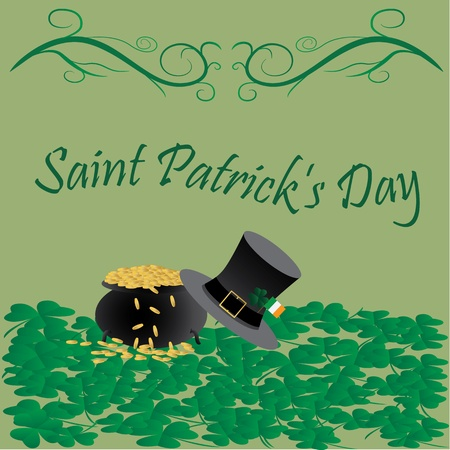 clover banners:  saint patrick s day celebration greetings