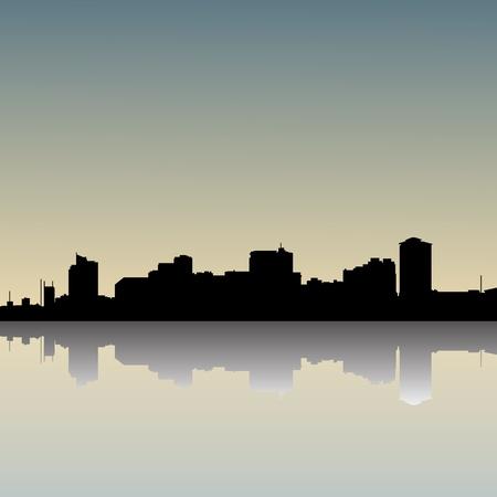 Manila Philippines skyline, view from manila bay  Vector