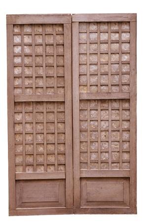 window pane: closeup image of an old wooden window pane shell