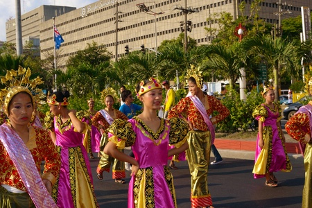 MANILA, PHILIPPINES - APR  14  street dancers perform during Aliwan Fiesta, which is the biggest annual national festival competition on April 14, 2012 in Manila Philippines  Stock Photo - 13413762