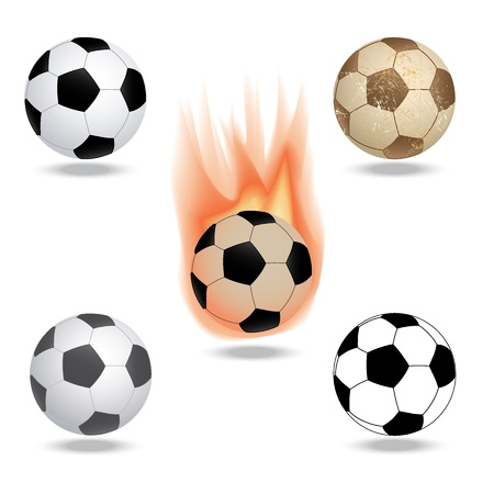 illustration of highly rendered soccer ball, football, isolated in white background. Stock Vector - 13485899