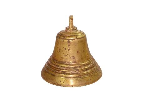 bell bronze bell: closeup image of a vintage brass bell