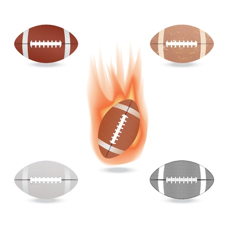 nfl: illustration of highly rendered football, isolated in white background.
