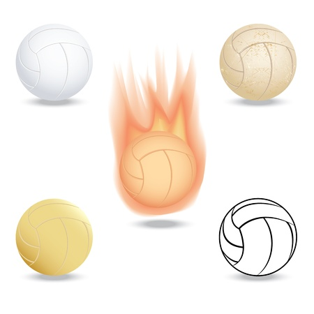 illustration of highly rendered volleyball, isolated in white background.   Vector