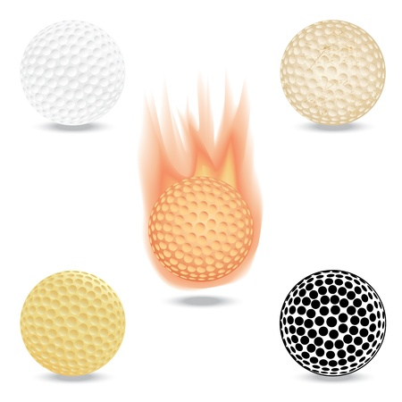 illustration of highly rendered golf ball, isolated in white background. Stock Vector - 13540235