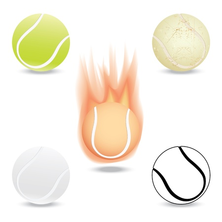 tenis: illustration of highly rendered tennis ball, isolated in white background. Illustration