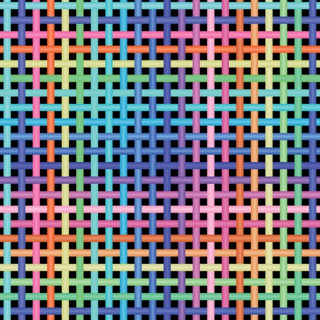 crosshatching: illustration of seamless colorful crossed graphic pattern. Illustration