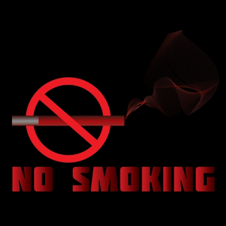 abstain: illustration of a no-smoking sign, warning, prohibition