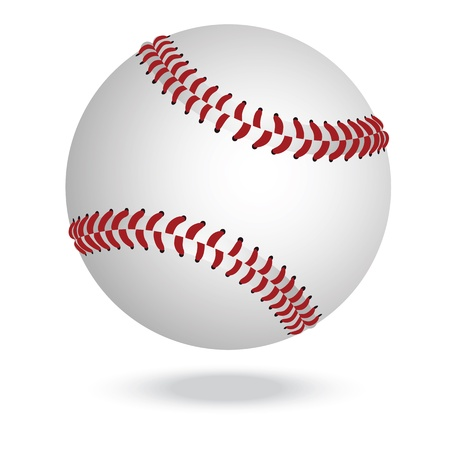 illustration of highly rendered baseballs, isolated in white background    Vector