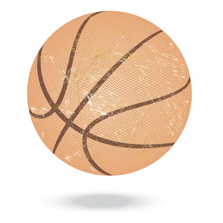 basketballs: illustration of highly rendered basketballs, isolated in white background    Illustration