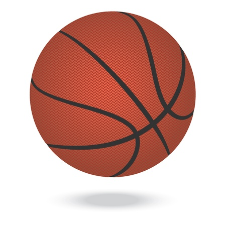 illustration of highly rendered basketballs, isolated in white background    Vector