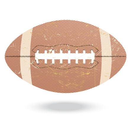 illustration of highly rendered vintage football, isolated in white background Stock Vector - 13626264