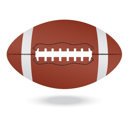 illustration of highly rendered football, isolated in white background    Vector