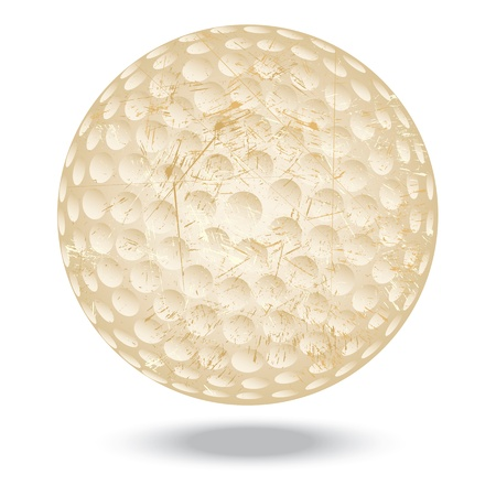 illustration of highly rendered vintage golf ball, isolated in white background Stock Vector - 13626266