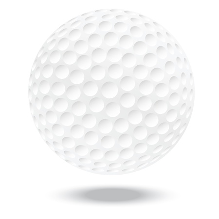 illustration of highly rendered golf ball, isolated in white background Stock Vector - 13626256