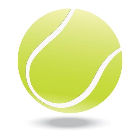 tenis: ilustraci�n de la pelota de tenis altamente prestados, aislado en fondo blanco