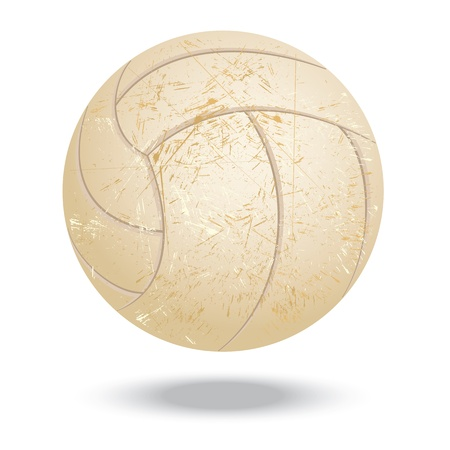 illustration of highly rendered vintage volleyball, isolated in white background    Stock Vector - 13626265