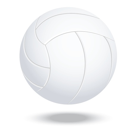 volley: illustration of highly rendered volleyball, isolated in white background