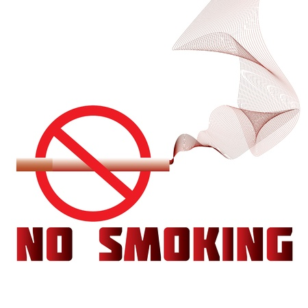 health hazard: illustration of a no-smoking sign, warning, prohibition
