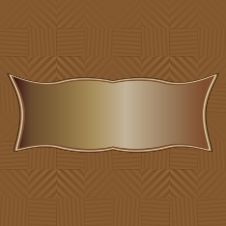 illustration of brown tiled abstract background pattern with copyspace. Vector