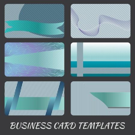 illustration of business card design template sets. Vector