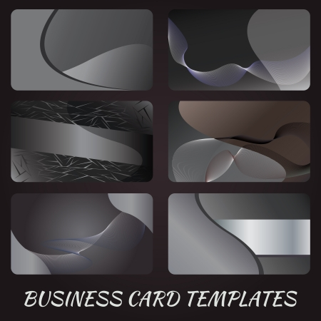 illustration of business card design template sets. Vector