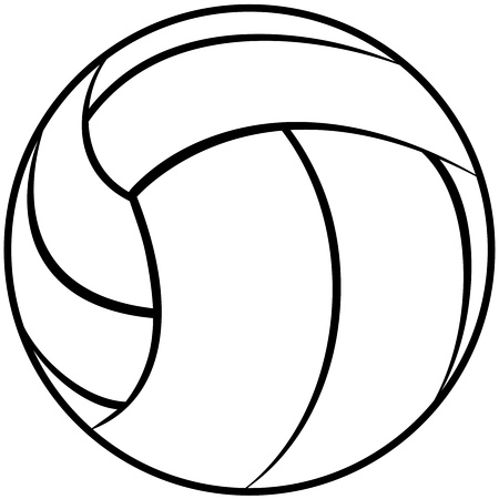 illustration of a volleyball outline isolated in white background