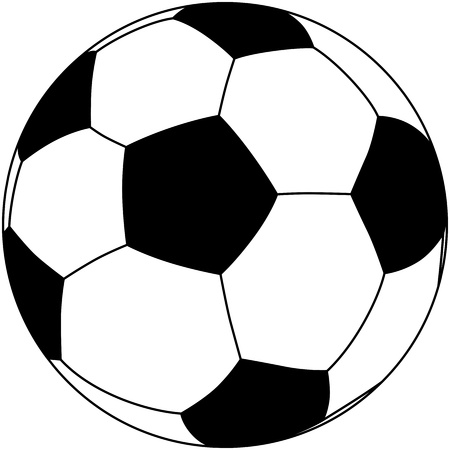soccerball: closeup illustration of a soccerball isolated in white background
