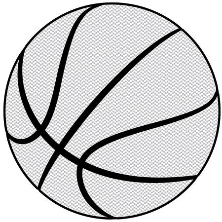 canestro basket: illustrazione di uno schema di basket isolati in sfondo bianco Vettoriali