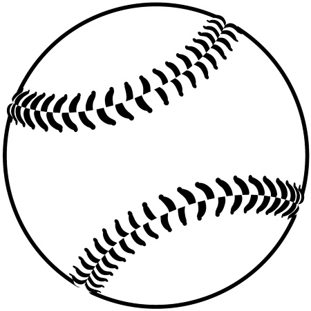 softball: image of a baseball isolated in white background