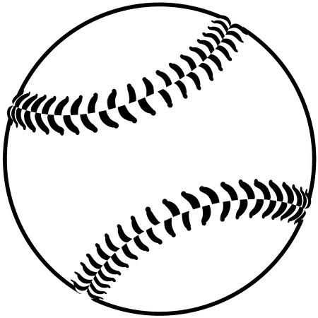 softbol: imagen de una pelota de béisbol aislado en fondo blanco Vectores